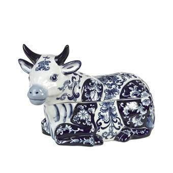 Pols Potten Cow Pot Organizen & bewaren Blauw