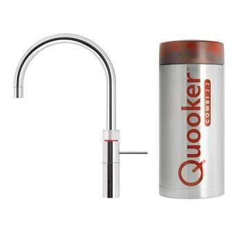 Quooker COMBI+ Fusion Round Kokendwaterkraan Keukenapparatuur Zilver Chroom