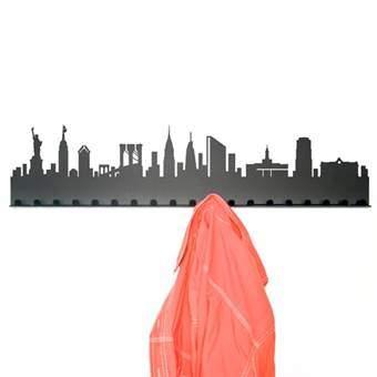 Radius City New York Kapstok Kapstokken Zwart Staal