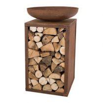 RedFire Wood Storage Vuurschaal Terrasverwarming Bruin Staal