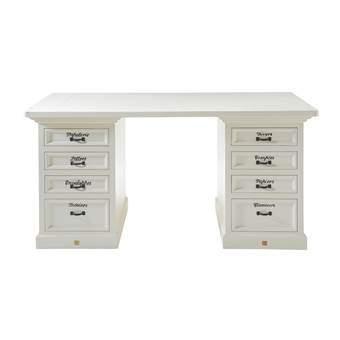 Bureau Wit Met Hout.Riviera Maison Bureau The Desk
