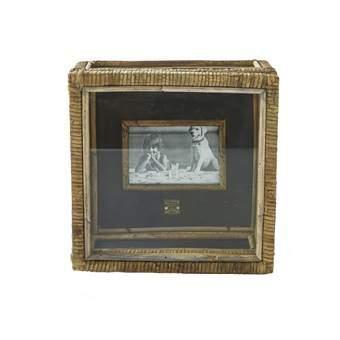 Rivièra Maison Cabot Cove Fotobox S 30 x 30 cm Woonaccessoires Bruin Rotan