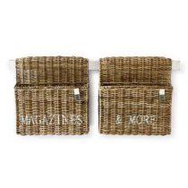 Rivièra Maison Magazines & More Hangende Mand - Set van 2 Opbergen Bruin IJzer