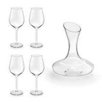 Royal Leerdam Appreciate Decanteerkaraf + Wijnglazen 5-delig Wijn assortiment Transparant Glas