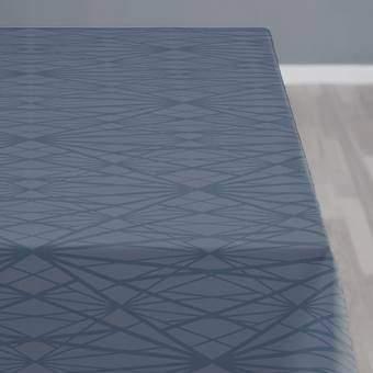 Södahl Diamond Grid Tafelkleed 140 x 220 cm Tafelpresentatie Blauw Katoen