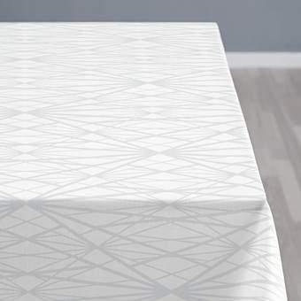 Södahl Diamond Grid Tafelkleed 140 x 220 cm Tafelpresentatie Wit Katoen