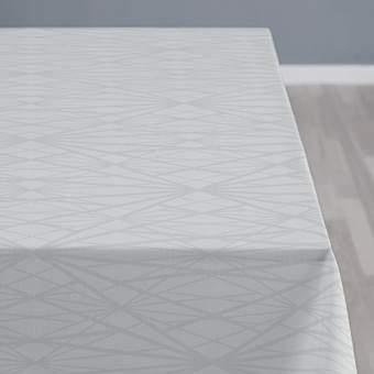 Södahl Diamond Grid Tafelkleed 140 x 270 cm Tafelpresentatie Grijs Katoen