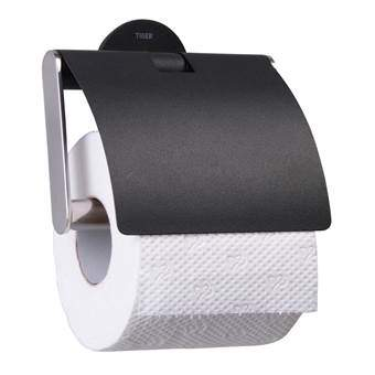 Sealskin Metropolitan Toiletrolhouder Toiletaccessoires Zwart Kunststof