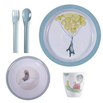 Sebra In the Sky Melamine Kinderservies Kinderservies & bestek Blauw Melamine