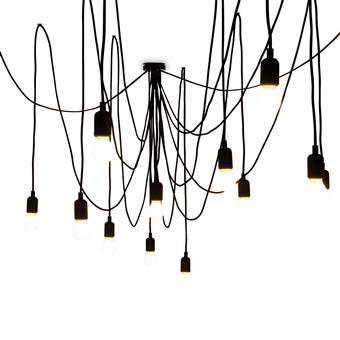 Seletti Maman Hanglamp Verlichting Zwart Kunststof