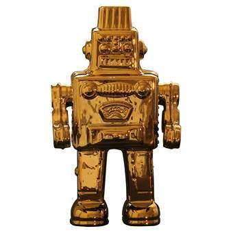 Seletti Memorabilia Robot Limited Edition Woonaccessoires Goud Porselein