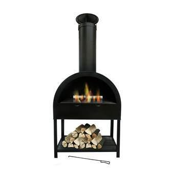 SenS-Line Finy Flame Terrashaard Barbecues Zwart Metaal