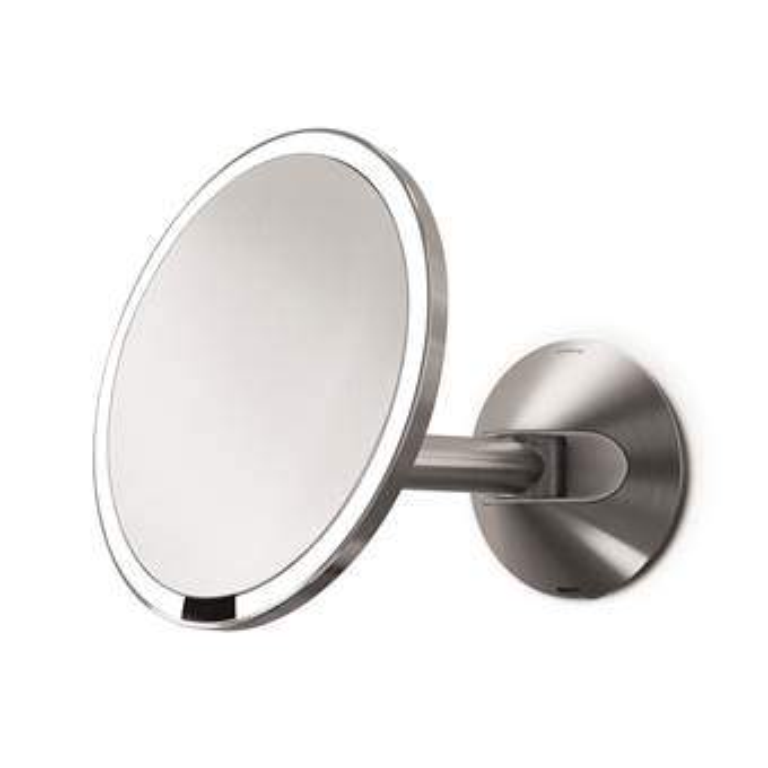 Simplehuman Sensor Wand Cosmeticaspiegel Badkameraccessoires Zilver Glas