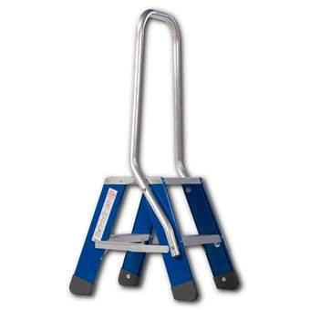 Skyworks Premium Dubbele Trap 2x2 Trapjes Blauw Aluminium