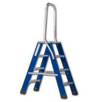 Skyworks Premium Dubbele Trap 2x4 Trapjes Blauw Aluminium