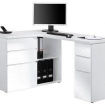 0.00 - Smooth Computer hoekbureau - Wit - Kantoortafels