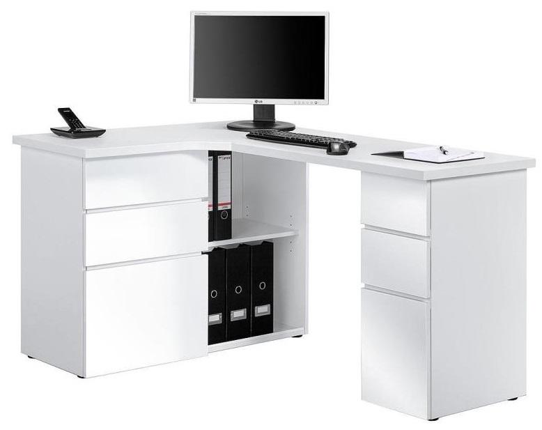 Bureau Hoek Wit.Smooth Computer Hoekbureau Wit