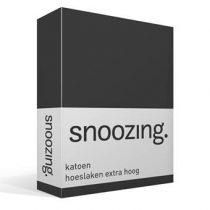 Snoozing katoen hoeslaken extra hoog Beddengoed Antraciet