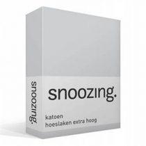 Snoozing katoen hoeslaken extra hoog Beddengoed Grijs Katoen