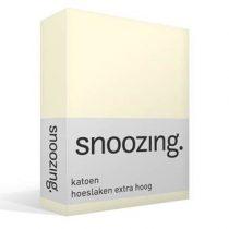 Snoozing katoen hoeslaken extra hoog Beddengoed Wit Katoen