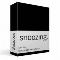 Snoozing katoen hoeslaken extra hoog Beddengoed Zwart Katoen