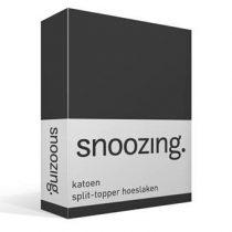 Snoozing katoen split-topper hoeslaken Beddengoed Antraciet Katoen