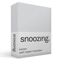 Snoozing katoen split-topper hoeslaken Beddengoed Grijs Katoen