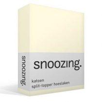 Snoozing katoen split-topper hoeslaken Beddengoed Wit Katoen