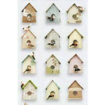 Studio Ditte Vogelhuisjes Behang Wanddecoratie & -planken Multicolor Papier
