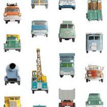 Studio Ditte Werkauto Behang Wanddecoratie & -planken Multicolor Papier