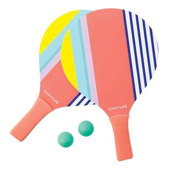 Sunnylife Havana Beach Tennis Buitenspeelgoed Multicolor Hout