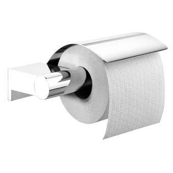 Tiger Bold Toiletrolhouder met klep Toiletaccessoires Zilver Metaal