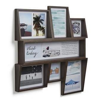 Umbra Edge Multi Fotolijst 54 x 59 cm Woonaccessoires Bruin Hout