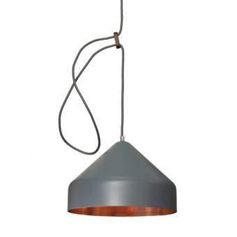 Vij5 Lloop Copper Hanglamp Ø 18 cm Verlichting Grijs Koper