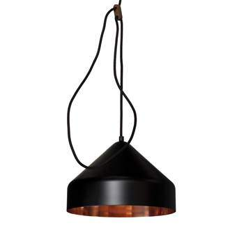 Vij5 Lloop Copper Hanglamp Ø 18 cm Verlichting Zwart Koper