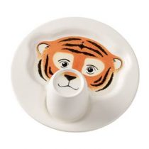 Villeroy & Boch Animal Friends Bord met Beker Kinderservies & bestek Wit Porselein