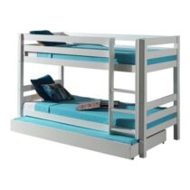 Vipack Pino Stapelbed Met Rolbed 90 x 200 cm Kindermeubels Wit Hout