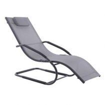 Vivere Wave Lounger Tuinstoel Tuinmeubelen Grijs Aluminium