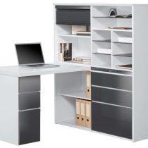 0.00 - Volvo Mini Office bureau - Wit met hoogglans Grijs - Kantoortafels