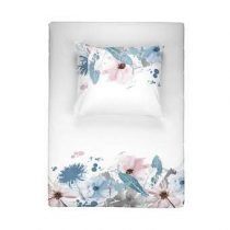 Walra Flower rain Dekbedovertrek 200 x 220 cm Slapen & beddengoed Blauw