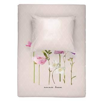 Walra Summer Breeze Dekbedovertrek 140 x 220 cm Slapen & beddengoed Roze Katoen