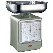 Wesco Keukenweegschaal met Klok Keukenapparatuur Zilver RVS