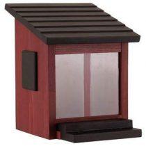 Wildlife Garden Ekorrmatare Eekhoornvoederhuisje Vogelhuisjes & dierenverblijven Rood Glas