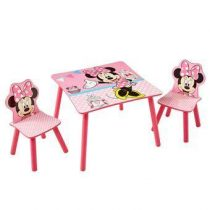 Worlds Apart Disney Minnie Mouse Tafel met 2 Stoelen Baby & kinderkamer Multicolor MDF