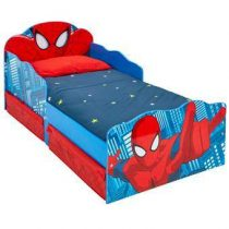 Worlds Apart Spider Man Kinderbed met Lades en Licht Baby & kinderkamer Rood MDF