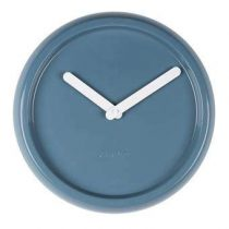Zuiver Ceramic Time Wandklok Ø 35 cm Klokken Blauw Keramiek