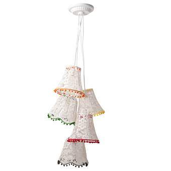Zuiver Granny Kant Hanglamp Verlichting Wit Textiel