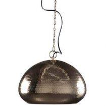Zuiver Hammered Hanglamp ovaal Verlichting Brons Metaal