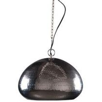 Zuiver Hammered Hanglamp ovaal Verlichting Zilver Metaal
