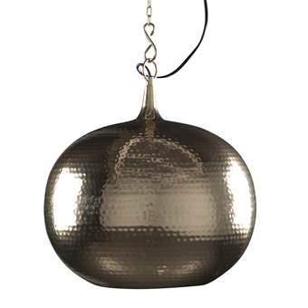 Zuiver Hammered Hanglamp rond Verlichting Beige Metaal